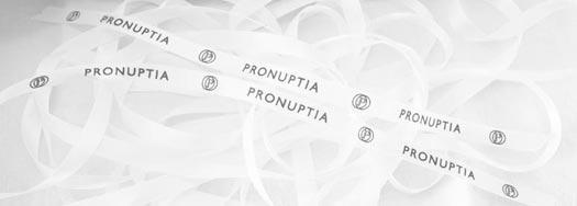 Ruban personnalisé Pronuptia