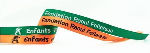 Ruban personnalisé Fondation Raoul Follereau
