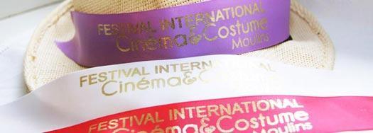 Ruban personnalisé Festival International Cinéma & Costume Moulins