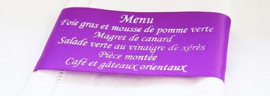 Ruban personnalisé Bleu-Violet